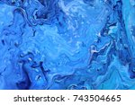 dark blue marble color mix ... | Shutterstock . vector #743504665