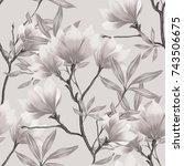 abstract elegance seamless... | Shutterstock . vector #743506675