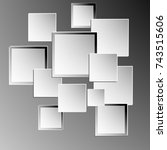 vector squares on a gray... | Shutterstock .eps vector #743515606