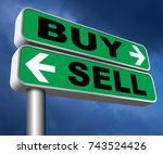 buy or sell market share buying ... | Shutterstock . vector #743524426
