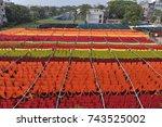 dhaka  bangladesh   october 28  ... | Shutterstock . vector #743525002