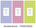 set of vertical seamless line... | Shutterstock .eps vector #743525632