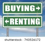 rent or buy mortgage for bank... | Shutterstock . vector #743526172