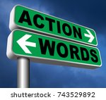 action words the time to act is ... | Shutterstock . vector #743529892