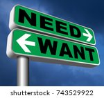 want need back to basic needs... | Shutterstock . vector #743529922