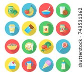 baby food icon. fruits  veggies ... | Shutterstock .eps vector #743531362