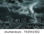 3D illustration of tornado or hurricane