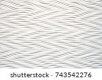 black and white wave looking... | Shutterstock . vector #743542276