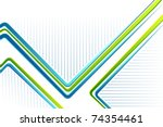 illustration of colorful lines...   Shutterstock .eps vector #74354461