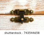 Rustic Lock On Wooden Box With...
