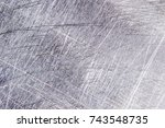scratches on the metal...   Shutterstock . vector #743548735
