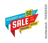 sale   concept banner vector... | Shutterstock .eps vector #743565325