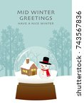 mid winter greeting card of... | Shutterstock .eps vector #743567836