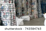 used clothing wholesaler textile | Shutterstock . vector #743584765