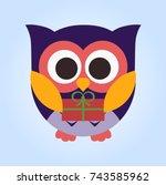 owl | Shutterstock .eps vector #743585962