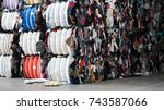 used clothing wholesaler... | Shutterstock . vector #743587066