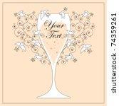 wedding invitation design   Shutterstock .eps vector #74359261