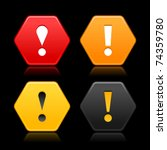 warning attention icon web 2.0... | Shutterstock .eps vector #74359780