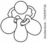 children's baby toy teether... | Shutterstock .eps vector #743599726