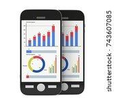 small data on smartphone.... | Shutterstock . vector #743607085