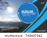 abstract vector modern cover... | Shutterstock .eps vector #743607262