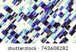 abstract digital fractal... | Shutterstock . vector #743608282