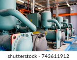 system installation in pump... | Shutterstock . vector #743611912
