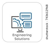 engineering solutions icon.... | Shutterstock .eps vector #743612968