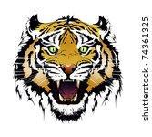 tiger vector | Shutterstock .eps vector #74361325