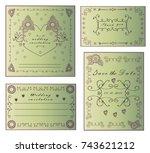 vector wedding collection....   Shutterstock .eps vector #743621212
