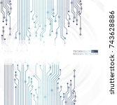 vector circuit board... | Shutterstock .eps vector #743628886