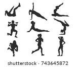 high detail silhouette series   ... | Shutterstock .eps vector #743645872