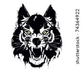 wolf vector | Shutterstock .eps vector #74364922