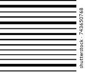 narrow black white horizontal... | Shutterstock .eps vector #743650768