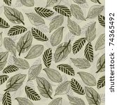 seamless leaf pattern | Shutterstock .eps vector #74365492
