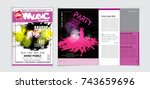 party magazine cover vector... | Shutterstock .eps vector #743659696