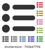 items icon. flat gray pictogram ...