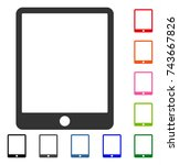 mobile tablet icon. flat grey...