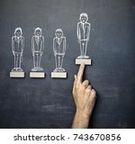 suitable candidate  | Shutterstock . vector #743670856