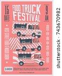 street food truck festival... | Shutterstock .eps vector #743670982