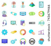 business approach icons set.... | Shutterstock .eps vector #743679466
