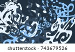 abstract background with...   Shutterstock .eps vector #743679526