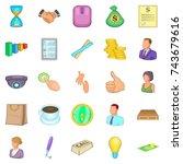 approach icons set. cartoon set ... | Shutterstock .eps vector #743679616
