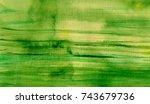 hand made watercolor wash... | Shutterstock . vector #743679736