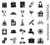 general icons set. simple set... | Shutterstock .eps vector #743682916