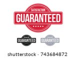satisfaction guaranteed badge... | Shutterstock .eps vector #743684872