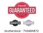 satisfaction guaranteed badge... | Shutterstock .eps vector #743684872