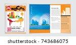 business template for brochure | Shutterstock .eps vector #743686075