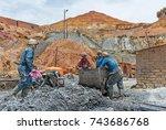 potosi  bolivia   october 17 ... | Shutterstock . vector #743686768