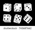 casino dice   Shutterstock .eps vector #743687662